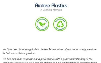Aintree Plastics Testimonial